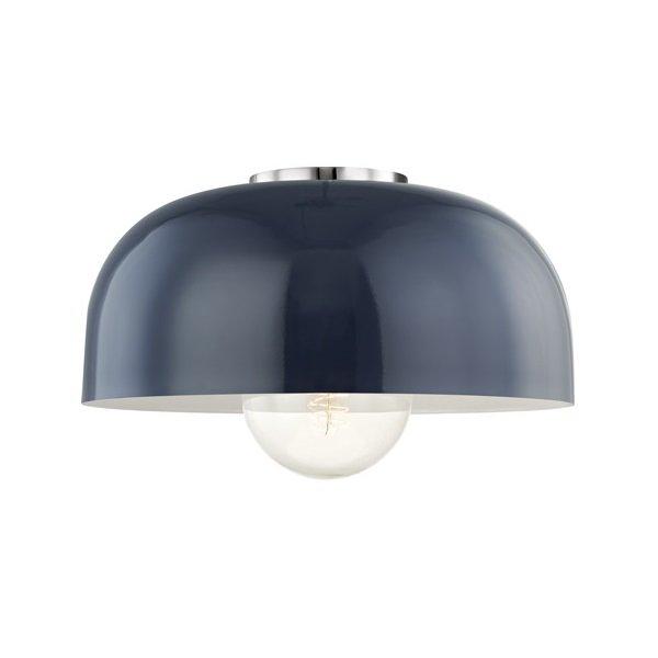 【MITZI】シーリングライト・L「AVERY」1灯・クローム×ネイビー(W355.6×H158.7mm)