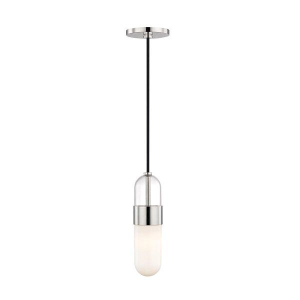 【MITZI】ガラスペンダントライト「EMILIA」1灯・クローム(W120.6×H285.7mm)