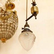 【1台在庫有!】【LAMPS】スペイン製ガラスシェードランプ 1灯(W135×H170mm)