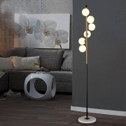 【LASHA】ガラスボールシェード・フロアライト 6灯 (D270mm×H1650mm)<img class='new_mark_img2' src='https://img.shop-pro.jp/img/new/icons3.gif' style='border:none;display:inline;margin:0px;padding:0px;width:auto;' />