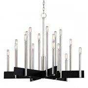 【HUDSON VALLEY】デザイン照明シャンデリア「ABRAMS」18灯・クローム(W850×H700mm)