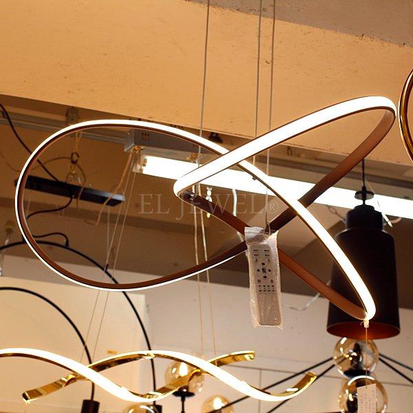 LEDペンダントライト ゴールド 1灯(W700×H280mm)