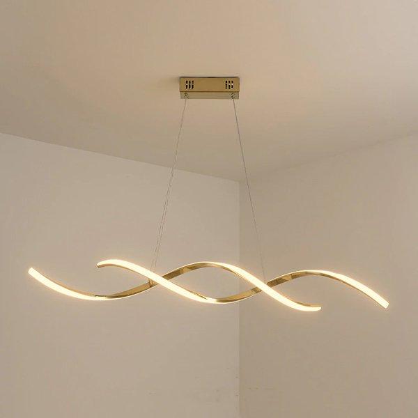 【2台在庫有!ゴールドのみ】LEDペンダントライト ゴールド/クローム 1灯(W900×H150mm)