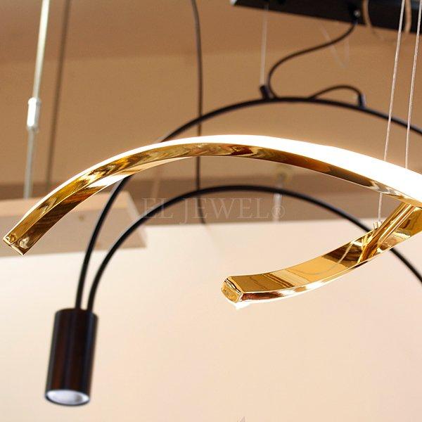 LEDペンダントライト ゴールド/クローム 1灯(W900×H150mm)