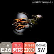 LEDフィラメント電球【プレミアム】一般電球型/5W・口金E26・2200K<img class='new_mark_img2' src='https://img.shop-pro.jp/img/new/icons1.gif' style='border:none;display:inline;margin:0px;padding:0px;width:auto;' />