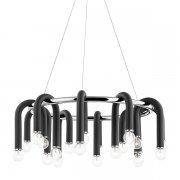 【MITZI】デザインシャンデリア「WHIT」20灯・クローム×ブラック(W730.2×H279.4mm)