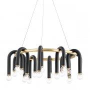 【MITZI】デザインシャンデリア「WHIT」20灯・ゴールド×ブラック(W730.2×H279.4mm)