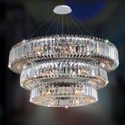 【ALLEGRI】クリスタルシーリングシャンデリア「Rondelle」39灯クローム (Φ1190×H300mm)