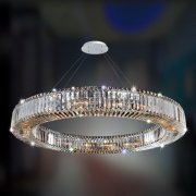 【ALLEGRI】クリスタルシーリングシャンデリア「Rondelle」18灯クローム (Φ1210×H100mm)