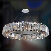 【ALLEGRI】クリスタルシーリングシャンデリア「Rondelle」12灯クローム (Φ910×H100mm)