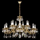 <B>【ART GLASS】</B>真鍮製チェコorスワロフスキークリスタルシャンデリア 16灯