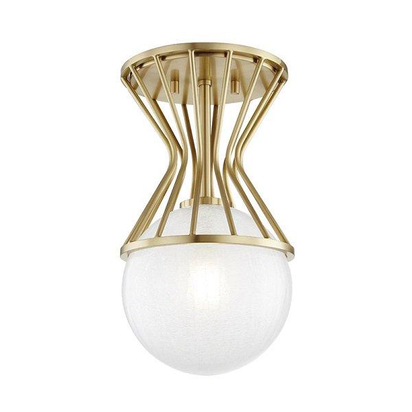 【MITZI】ワイヤーシーリングライト「PETRA」1灯・ゴールド(W196.8×H355.6mm)