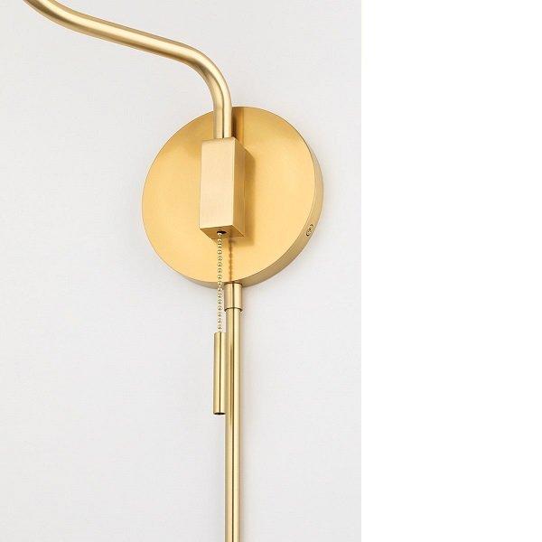【MITZI】シェードウォールライト「PATTI」1灯・ゴールド(W266.7×H774.7mm)