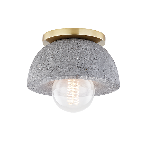 【MITZI】シーリングライト「POPPY」1灯・ゴールド(W177.8×H146.05mm)