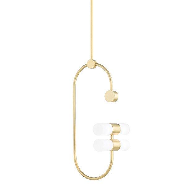 【MITZI】デザインペンダントライト「RAE」4灯・ゴールド(W222.2×H511.3mm)