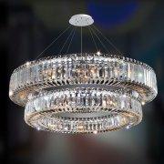 【ALLEGRI】クリスタルシーリングシャンデリア「Rondelle」21灯クローム(Φ910×H200mm)
