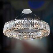 【ALLEGRI】クリスタルシーリングシャンデリア「Rondelle」9灯クローム(Φ660×H100mm)