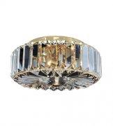 【ALLEGRI】クリスタルシーリングシャンデリア「Julien」2灯クローム (W240×H120mm)