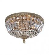 【ALLEGRI】クリスタルシーリングシャンデリア「Lemire」4灯アンティークゴールド (Φ350×H200mm)
