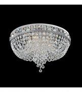 【ALLEGRI】クリスタルシーリングシャンデリア「Cascata」6灯クローム(Φ600mm)