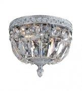 【ALLEGRI】クリスタルシーリングシャンデリア「Lemire」2灯アンティークゴールド (Φ200×H150mm)