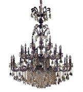 【ALLEGRI】クリスタルシャンデリア「Avelli」41灯シエナブロンズアンティークシルバーリーフアクセント(Φ1300×H1680mm)
