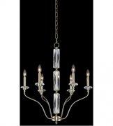 【ALLEGRI】クリスタルシャンデリア「Savia」6灯シャンパンゴールド(Φ630×H730mm)