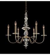 【ALLEGRI】クリスタルシャンデリア「Bolivar」6灯シャンパンゴールド(Φ600×H600mm)