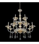 【ALLEGRI】クリスタルシャンデリア「La Rosa」12灯24Kゴールド(Φ1090×H1270mm)