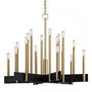 【HUDSON VALLEY】デザイン照明シャンデリア「ABRAMS」18灯・ゴールド(W850.9×H698.5mm)