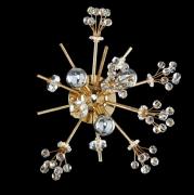 【ALLEGRI】クリスタルウォールライト「Constellation」3灯18Kゴールド(W330×D170mm)