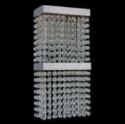 【ALLEGRI】クリスタルウォールライト「Cortina」1灯クローム(W170×H400×D150mm)