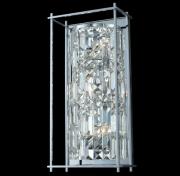 【ALLEGRI】クリスタルウォールライト「Joni」3灯マットブラック(W220×H450×D120mm)