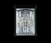 【ALLEGRI】クリスタルウォールライト「Joni」1灯マットブラック(W220×H300×D120mm)
