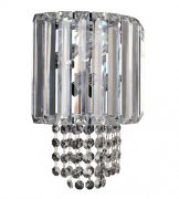 【ALLEGRI】クリスタルウォールライト「Adaliz」2灯クローム(W200×H260×D120mm)