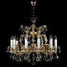 <B>【ART GLASS】</B>チェコorスワロフスキークリスタルシャンデリア 11灯