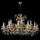 【ART GLASS】大型クリスタルシャンデリア「MARIA TEREZIA」18灯(W1120×H660mm)
