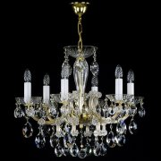 【ART GLASS】クリスタルシャンデリア「MARIA TEREZIA」6灯(W620×H520mm)