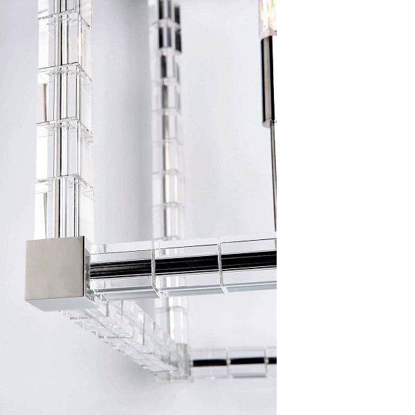 【HUDSON VALLEY】デザイン照明シャンデリア「ALPINE」6灯・クローム(W469.9×H698.5mm)