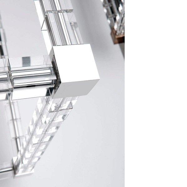 【HUDSON VALLEY】デザイン照明シェードペンダントライト「ALPINE」4灯・クローム(W508.0×H444.5mm)