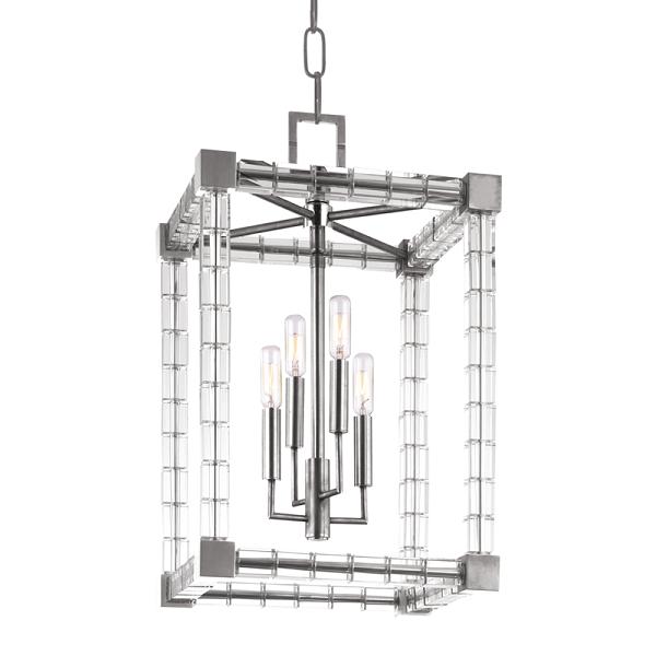 【HUDSON VALLEY】デザイン照明ペンダントライト「ALPINE」4灯・クローム(W342.9×H558.8mm)
