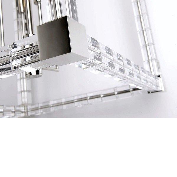 【HUDSON VALLEY】デザイン照明シーリングライト「ALPINE」4灯・クローム(W292.1×H361.9mm)