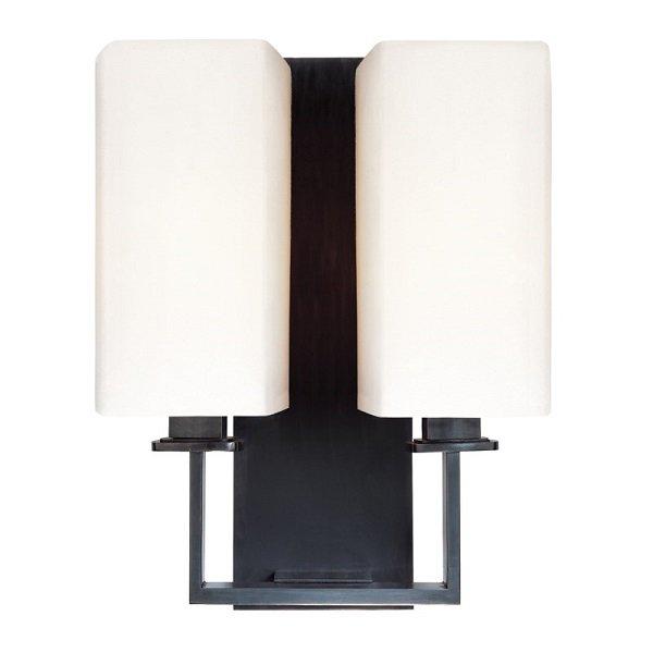 【HUDSON VALLEY】デザイン照明シェードウォールライト「BALDWIN」2灯・ブラック系(W266.7×H349.2mm)