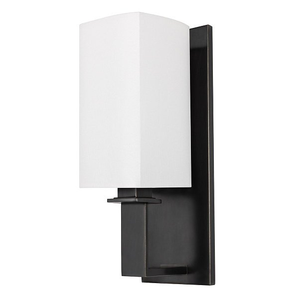 【HUDSON VALLEY】デザイン照明シェードウォールライト「BALDWIN」1灯・ブラック系(W114.3×H349.2mm)
