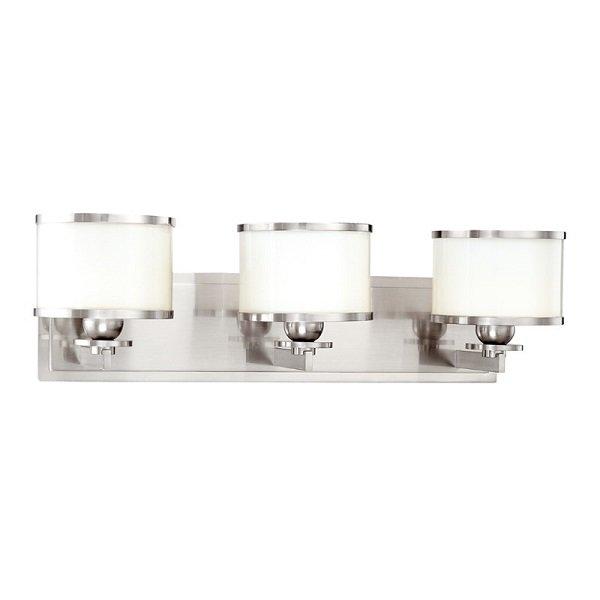 【HUDSON VALLEY】デザイン照明ガラスシェードウォールライト「BASKING RIDGE」3灯・クローム色(W577.8×H165.1mm)