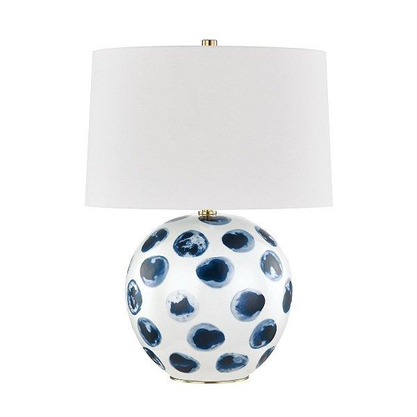 【HUDSON VALLEY】デザイン照明シェードテーブルランプ「BLUE POINT」1灯(W406.4×H558.8mm)
