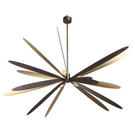 【Pouenat】フランス製・デザイン照明・8灯「LIBELLULE」SMALL(W433mm)