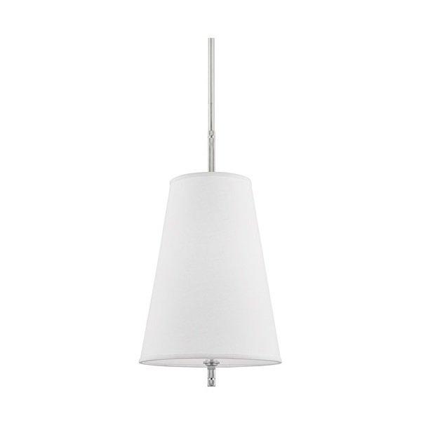 【HUDSON VALLEY】デザイン照明シェードペンダントライト「BOWERY」1灯・クローム(W355.6×H704.8mm)