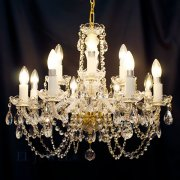 【在庫有!/ゴールド1台】【ART GLASS】クリスタルシャンデリア「CARMEN」12灯(W620×H480mm)