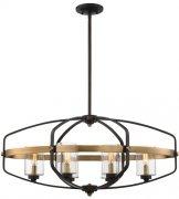 【SAVOY】アメリカ製 デザインシャンデリア6灯(W810×H520×D430mm)